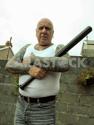 Intimidating Tattooed Man