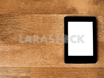 PC Tablet on Wood