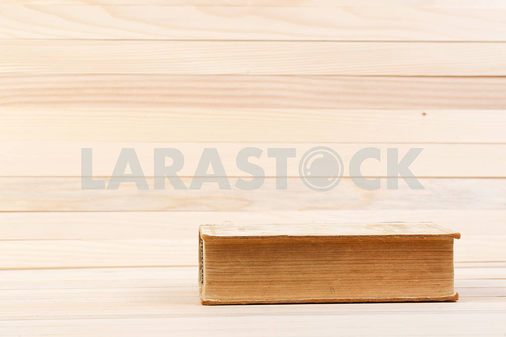 Stack of hardback books on wooden table. Back to school. — Image 47201