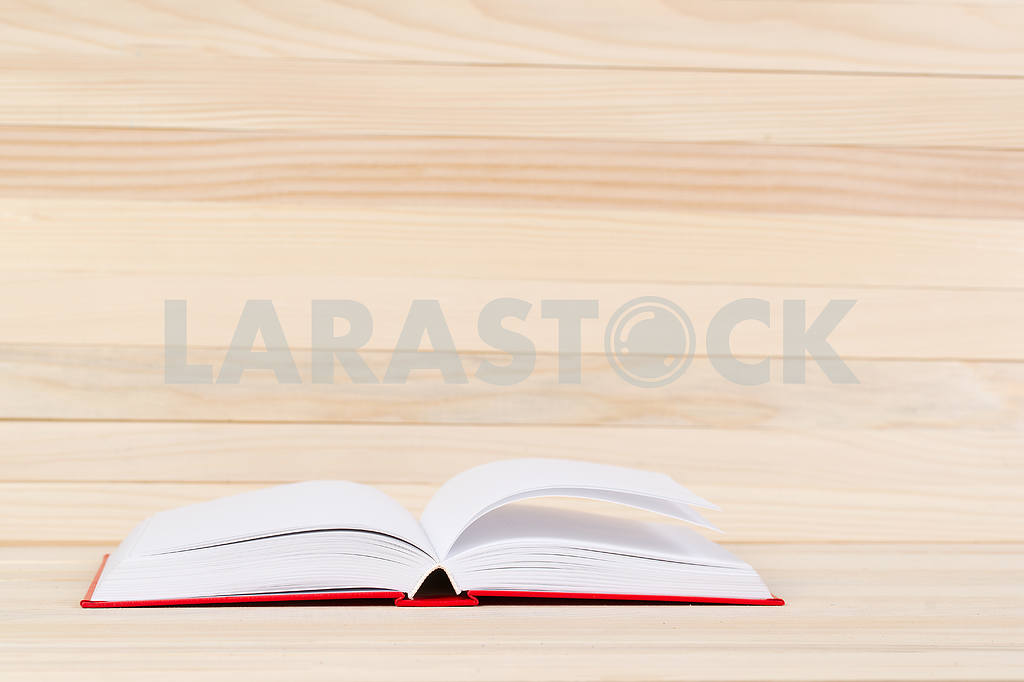 Stack of hardback books on wooden table. Back to school. — Image 47271