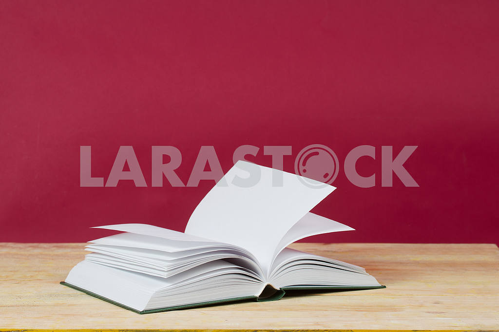 Stack of hardback books on wooden table. Back to school. — Image 47302