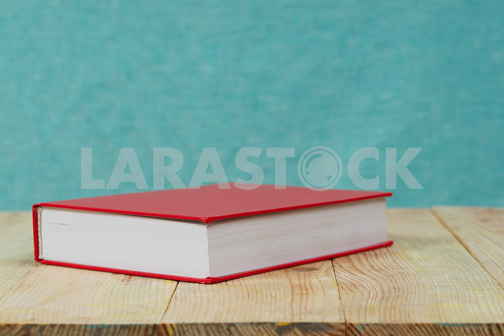 Stack of hardback books on wooden table. Back to school. — Image 47337
