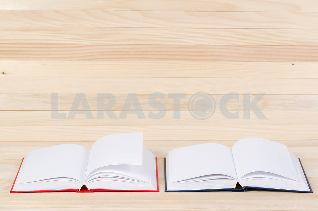 Stack of hardback books on wooden table. Back to school. — Image 47358