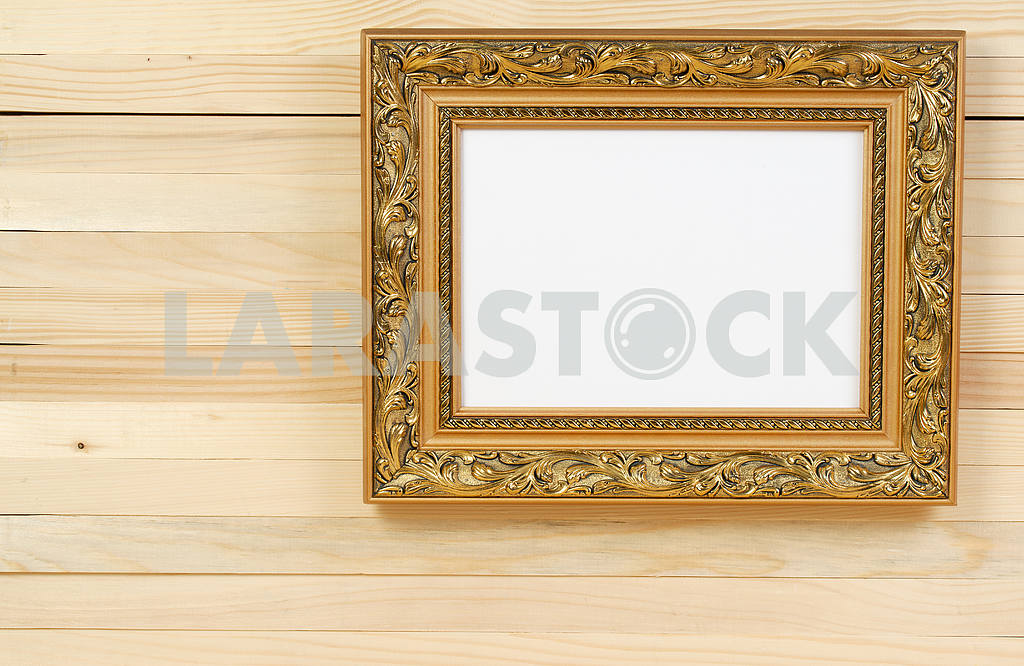 Frame on wooden wall. Interior Design. Copy space — Image 47452