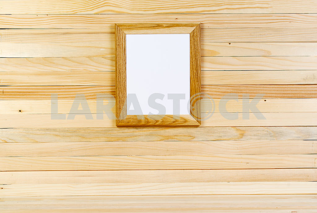 Frame on wooden wall. Interior Design. Copy space — Image 47558