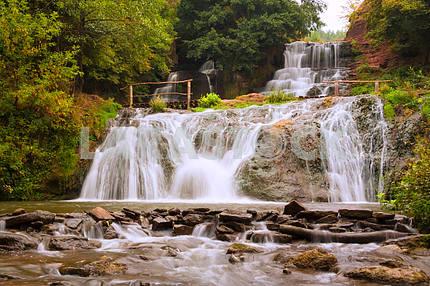 Dzhurynskyi waterfall. Ukraine