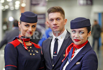 Flight attendants from AZUR air