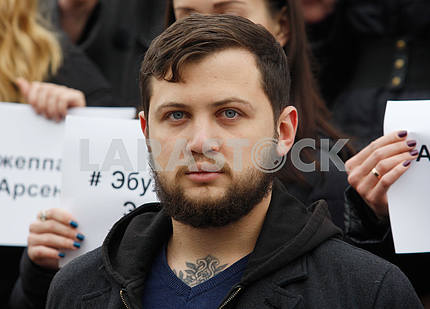 Gennady Afanasiev at the rally