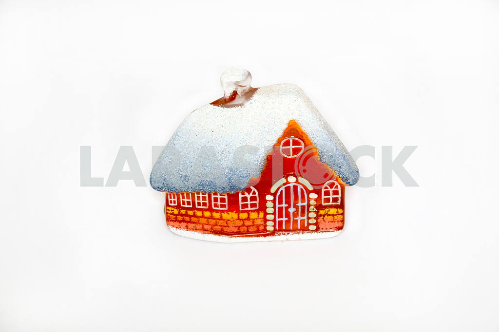 Christmas little glass house with snow covered roof. — Image 47787