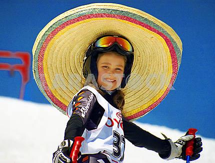Girl in a sombrero
