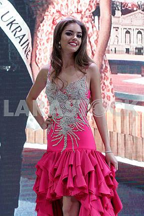 Alexandra Kucherenko in evening dress