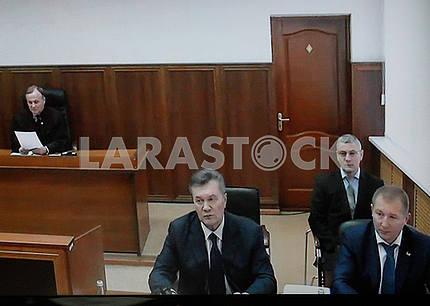 Viktor Yanukovich in a Russian court