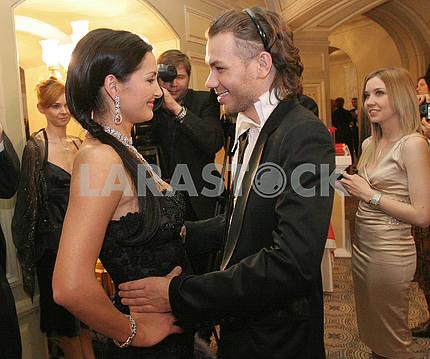 Певица Галлина и модельер Андре Тан