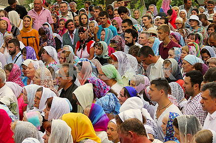 Believers during a religious procession