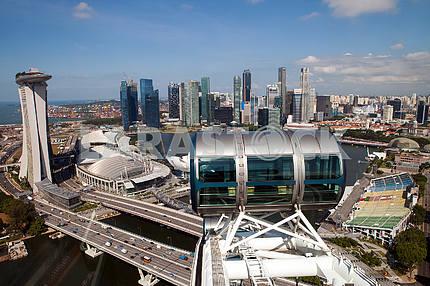 The cabin ferris wheel over Singapore