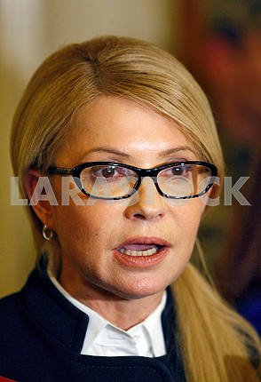 Yulia Tymoshenko speaks to reporters