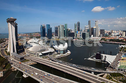 A view of Singapore from the top