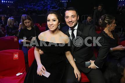 Natalka Karpa at the award ceremony of the M1 Awards 2016