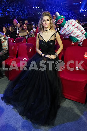 Vera Brezhnev at the award ceremony of the M1 Awards 2016