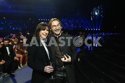 Алан Бадоев, Нателла Крапивина на церемонии награждения M1 Awards 2016