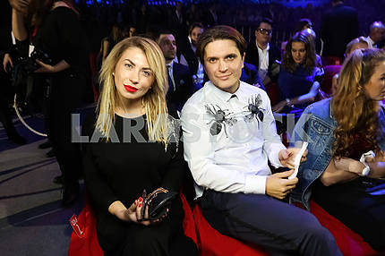 Yulia and Anatoly Anatolyevich at the award ceremony of the M1 Awards 2016