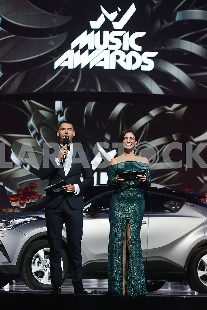 Nikita Dobrynin, Olya Tsybulskaya at the award ceremony of the M1 Awards 2016 — Image 48783