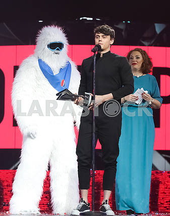 Alekseev at the award ceremony of the M1 Awards 2016