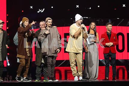 Группа МОЗГИ на церемонии награждения M1 Awards 2016