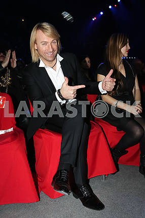 Oleg Vinnik at the award ceremony of the M1 Awards 2016