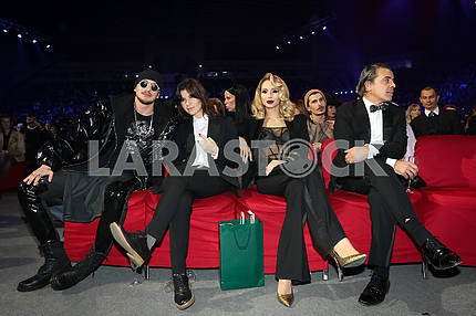 Gadar, Natella Krapivina, LOBODA and Walid Arfush at the award ceremony of the M1 Awards 2016