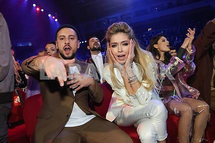 Monatik и Вера Брежнева на церемонии награждения M1 Awards 2016