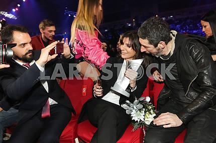 Natella Krapivina at the award ceremony of the M1 Awards 2016