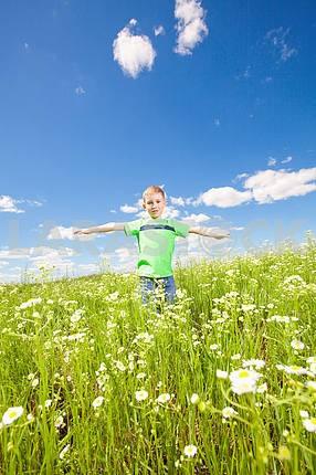 Happy boy the field