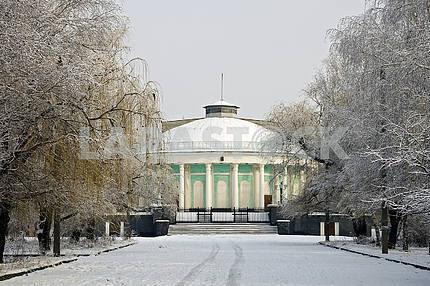 Kramatorsk. Winter in the park