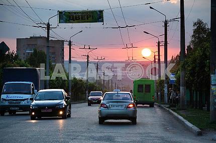 Kramatorsk. Sunset