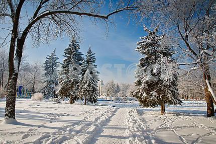 Winter in Kramatorsk