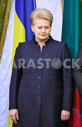 Dalia Grybauskaite,portrait on a belt
