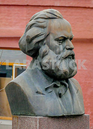 The bust of Karl Marx in the territory of Roshen confectionery factory in Kiev, the former Karl Marx