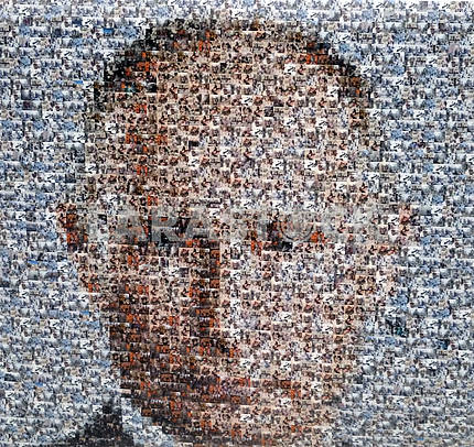 Portrait of Putin from photos of the deceased
