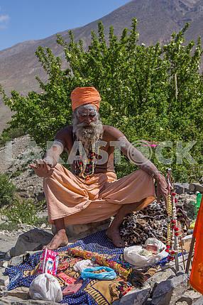 Sadhu in turban