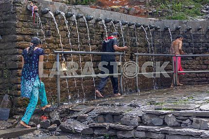 The fountain in Muktinata
