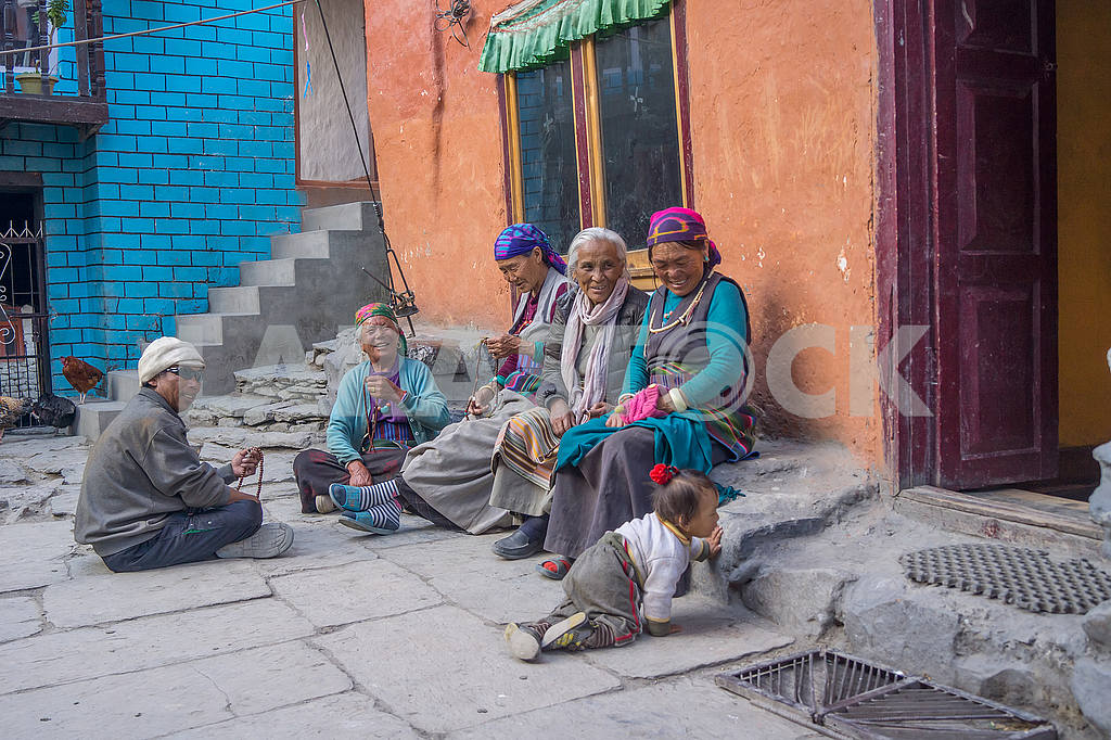 People on the street in Nepal — Image 49257