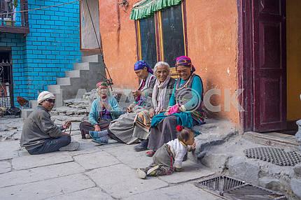 People on the street in Nepal