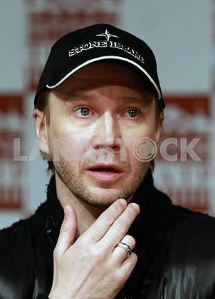 Актер Евгений Миронов на пресс-конференции в Киеве