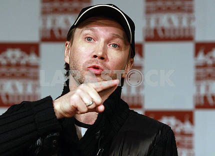 Actor Yevgeny Mironov at a press conference in Kyiv on March 18, 2010
