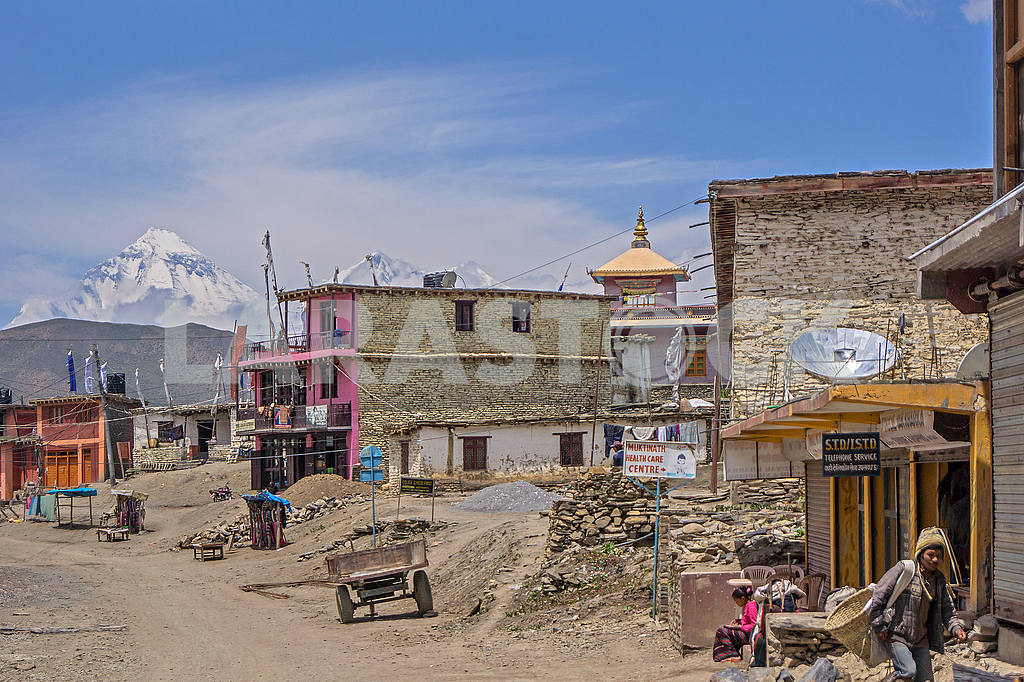 Mountain settlement in Nepal — Image 49332