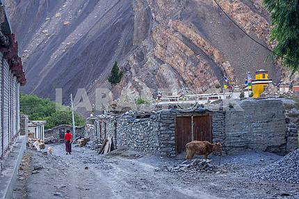 Mountain village in Nepal