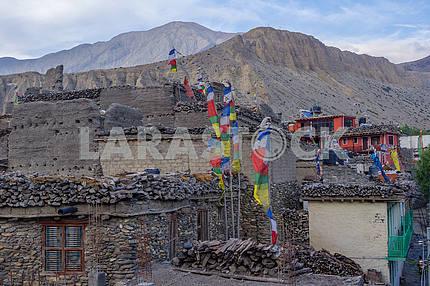 Mountain village in Muktinath district