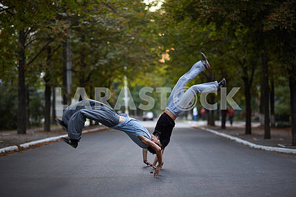 Parkour in the street