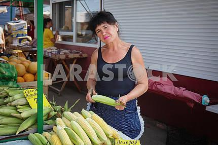 Maize seller